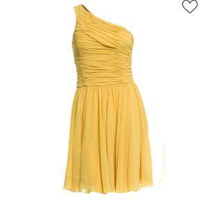 Yellow One Shoulder Halston Heritage Dress